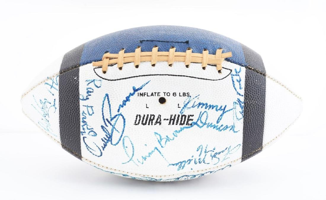 Vintage 1971 Baltimore Colts Team Signed Football. - 3