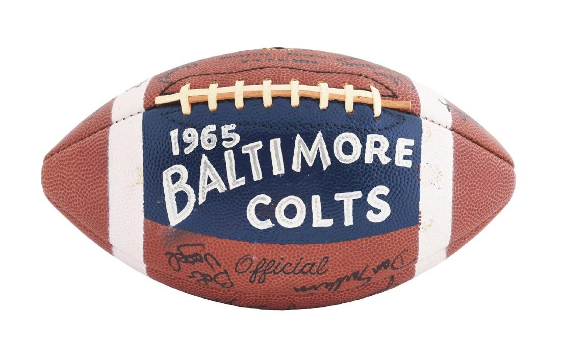 1965 Baltimore Colts Team Signed Football.