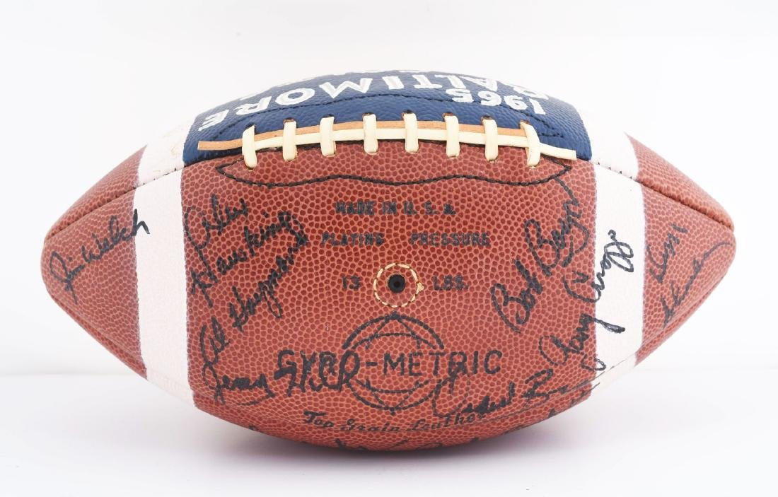 1965 Baltimore Colts Team Signed Football. - 4