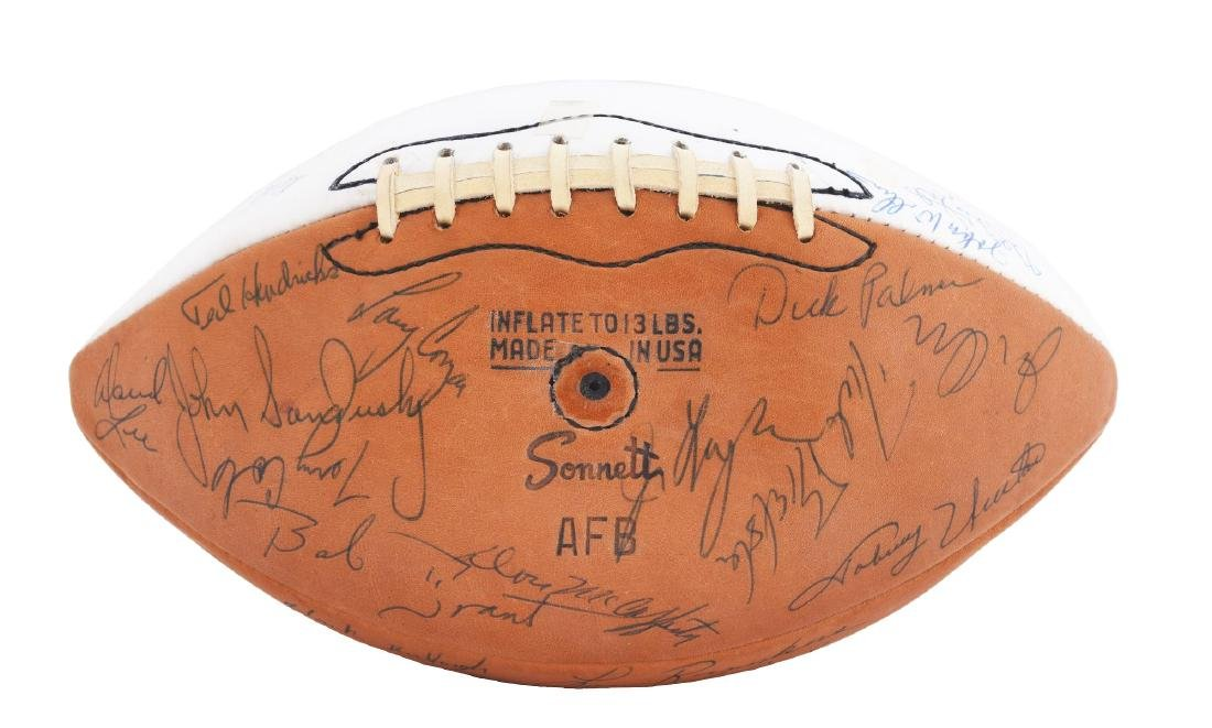 1970 Baltimore Colts Team Signed Ball.