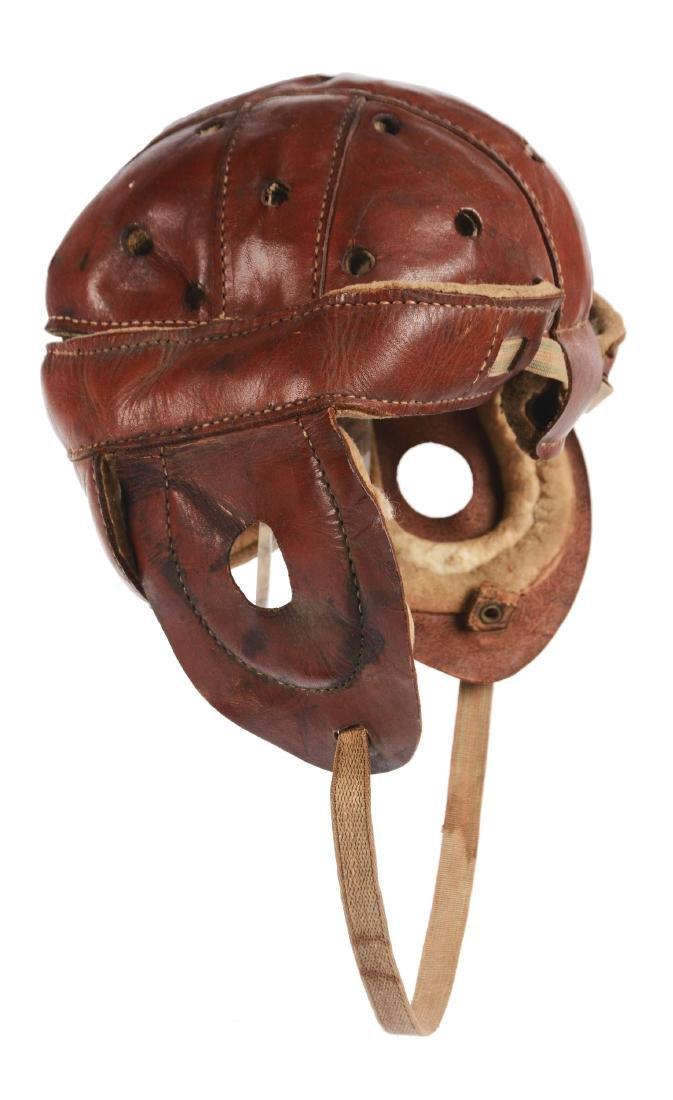 Wright & Ditson Dog Ear Leather Football Helmet.