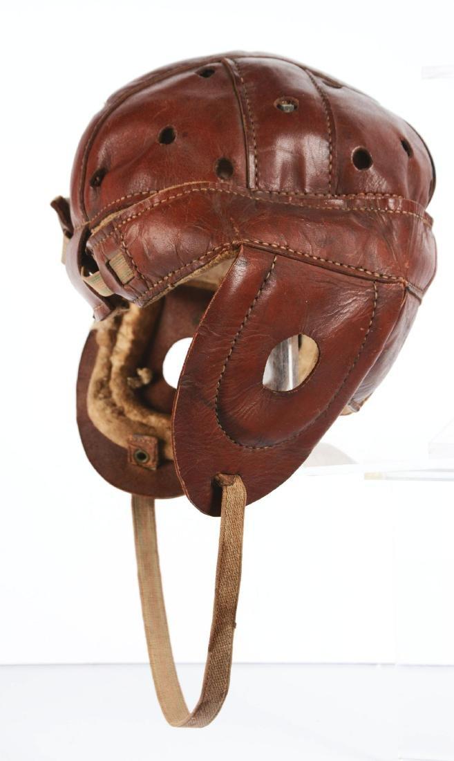 Wright & Ditson Dog Ear Leather Football Helmet. - 2