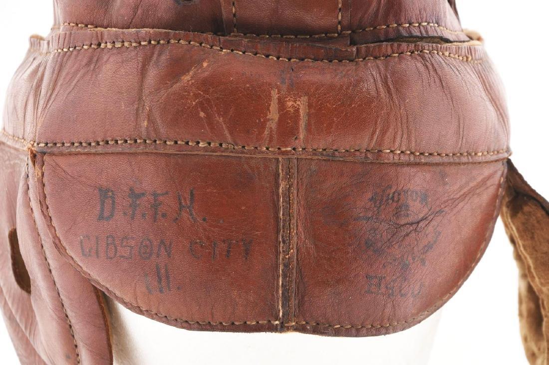 Wright & Ditson Dog Ear Leather Football Helmet. - 3