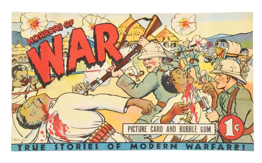 1938 Gum Inc. Horrors of War Window Display or Box Top.