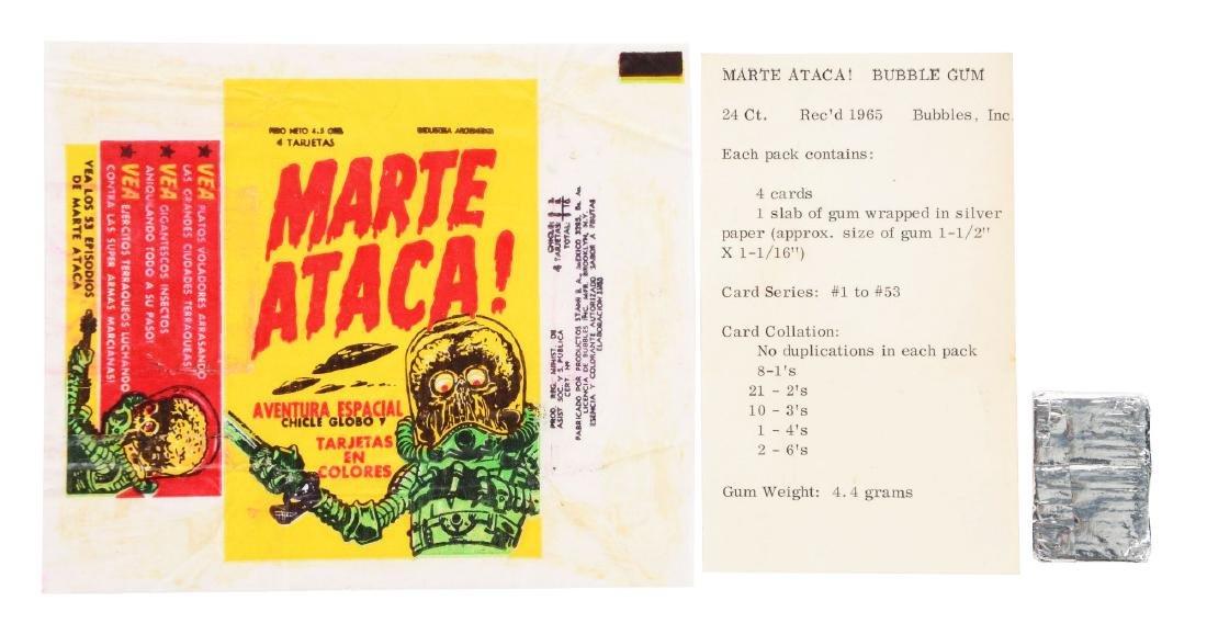1966 Mars Attacks Venezuelan Wrapper and Gum.