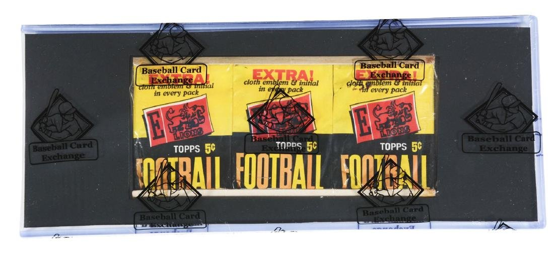 1961 Topps Football Unopened Grocery Tray (BBCE).