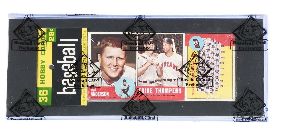 1963 Topps Baseball Unopened Rack Pack (BBCE).