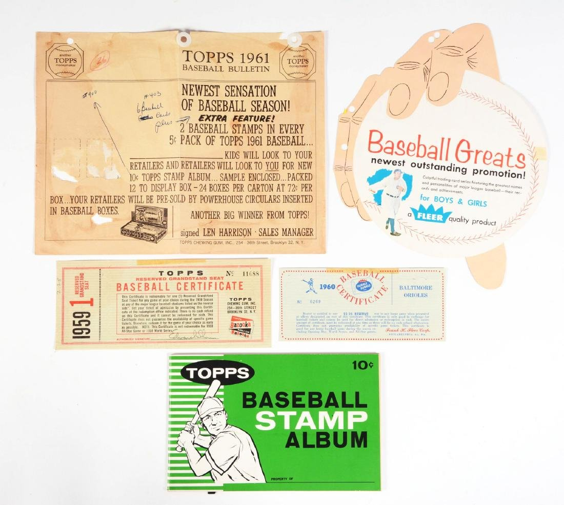 Lot of 4: 1950-60's Fleer & Topps Advertising &