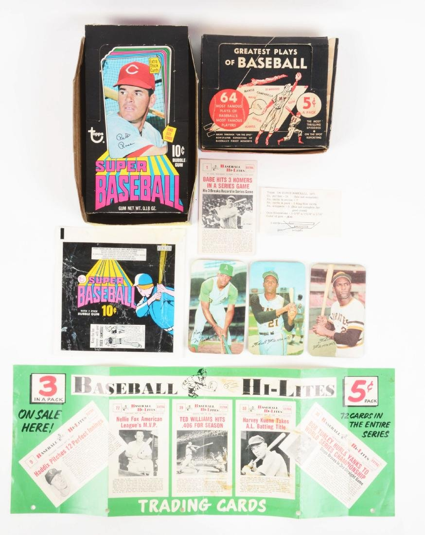 Nu Card Scoops and Topps Super Baseball Archive.
