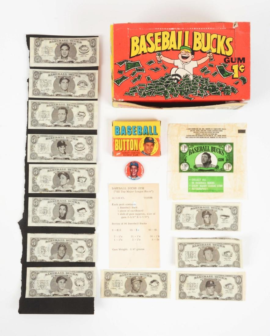 1962 Baseball Bucks & 1956 Topps Pins Archive.