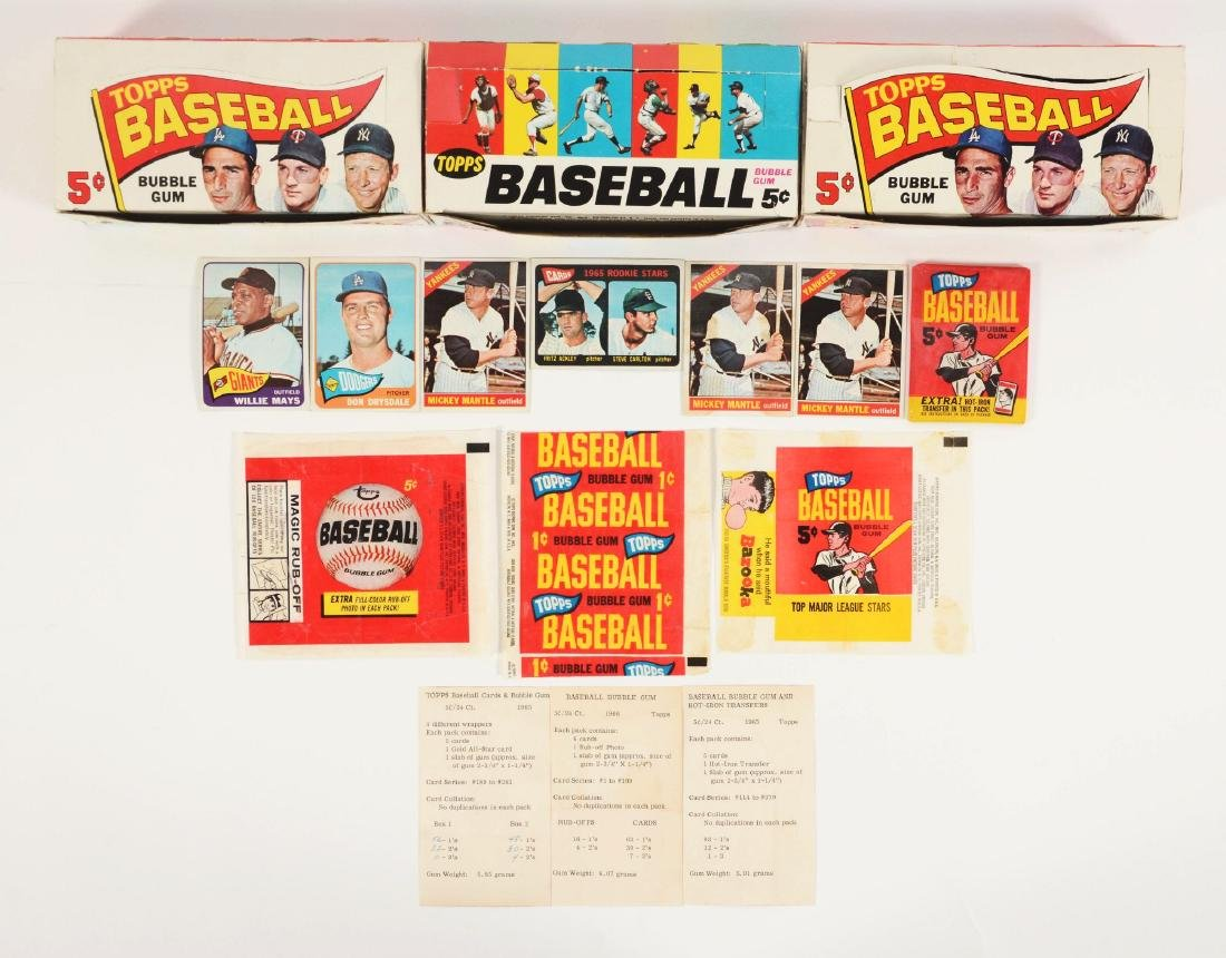 1965-1966 Topps Baseball Archive Collection.