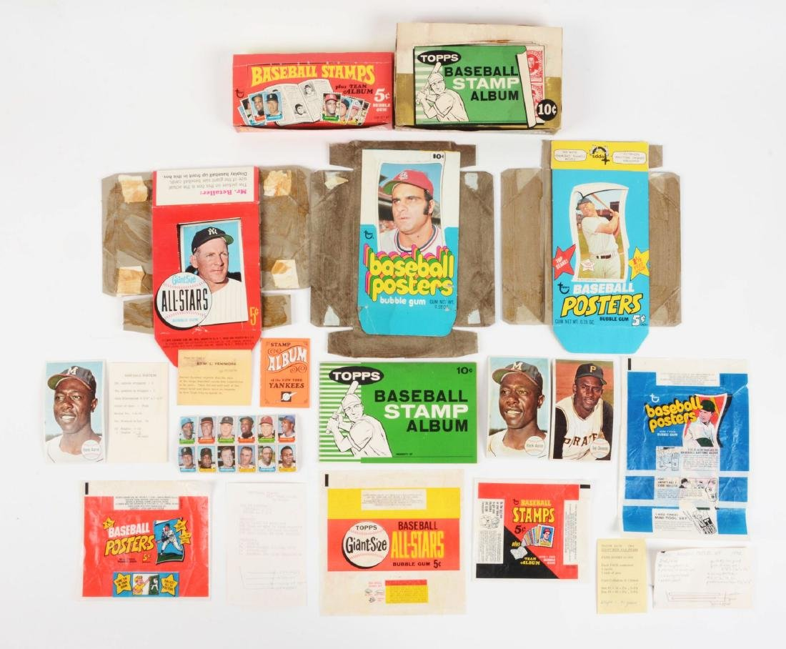 1960's & 1970's Topps Stamps, Giants and Poster