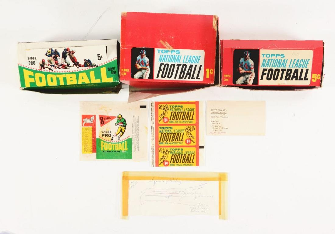 1963 & 1964 Topps Football Archive Collection.