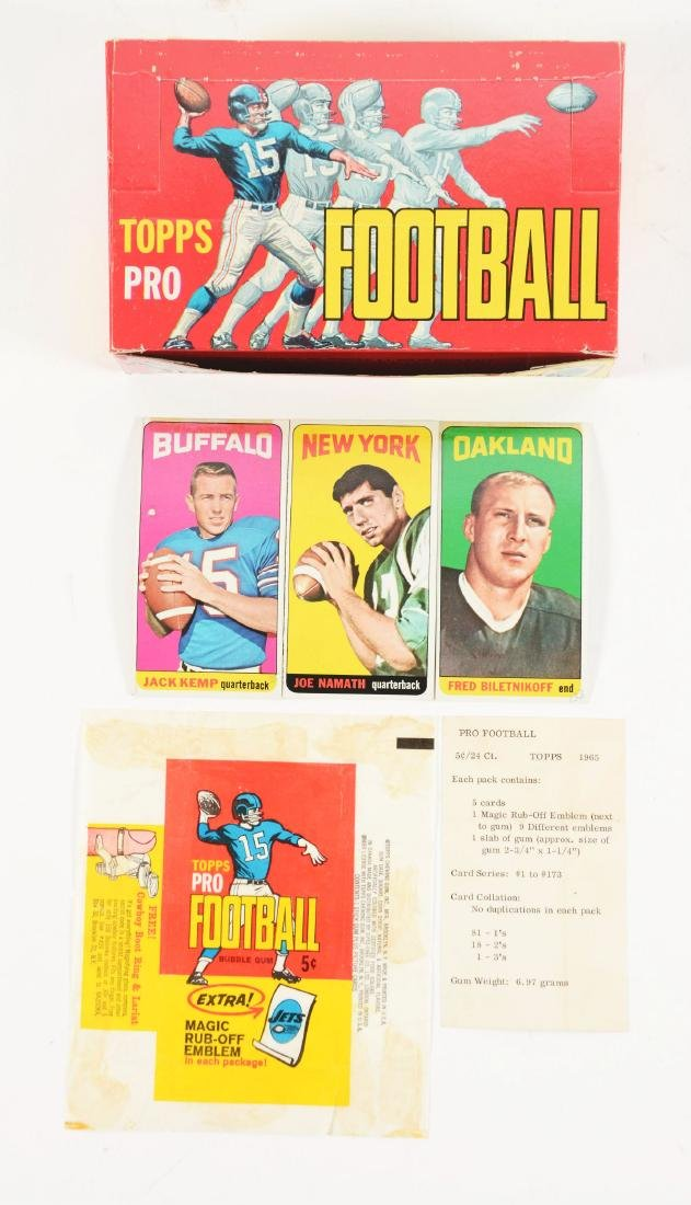 1965 Topps Football Archive Collection with Joe Namath