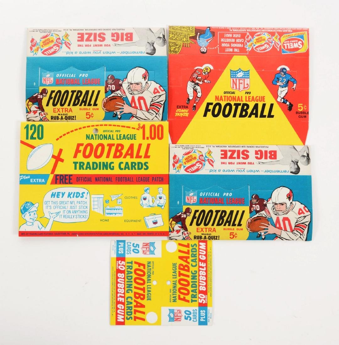Lot of 5: Unused Philly Football Display Collection.
