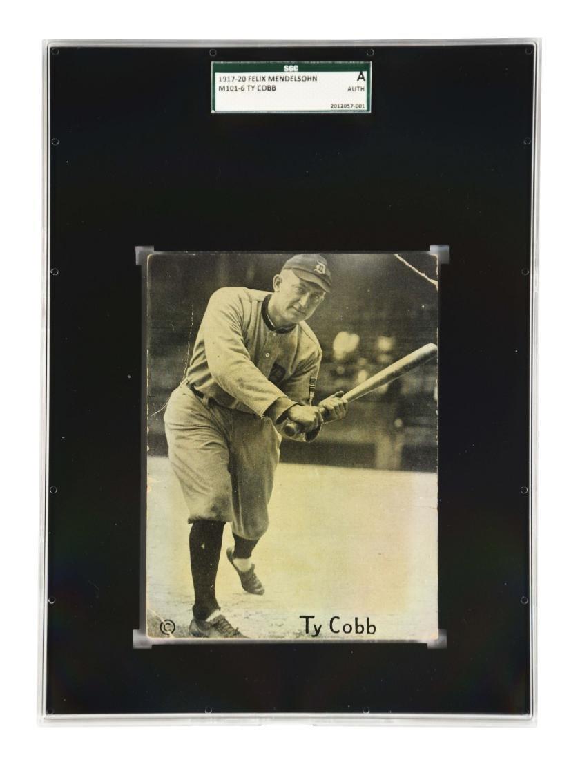 1917-1921 Felix Mendelsohn Ty Cobb Graded SGC