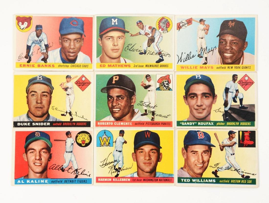1955 Topps Baseball Near Set (189/206).