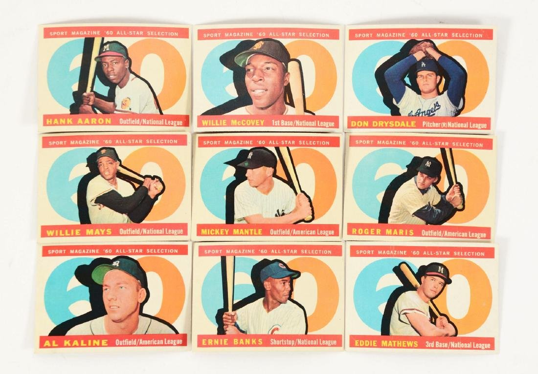 1960's Topps Card & Coin Group Including Mantle and