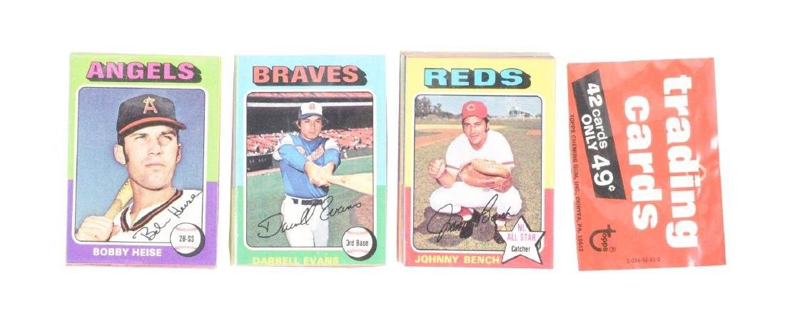 1975 Topps Baseball Unopened Rack Pack with Johnny