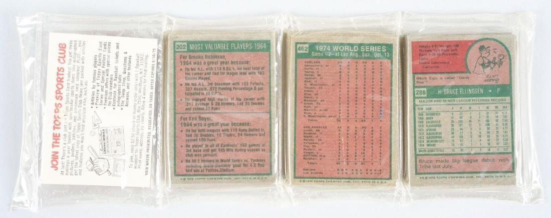 1975 Topps Baseball Unopened Rack Pack with Johnny - 2