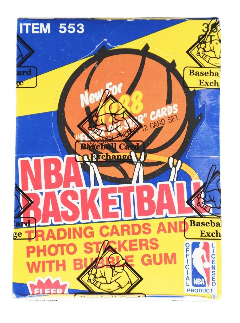 1988 Fleer Basketball Wax Box (BBCE).