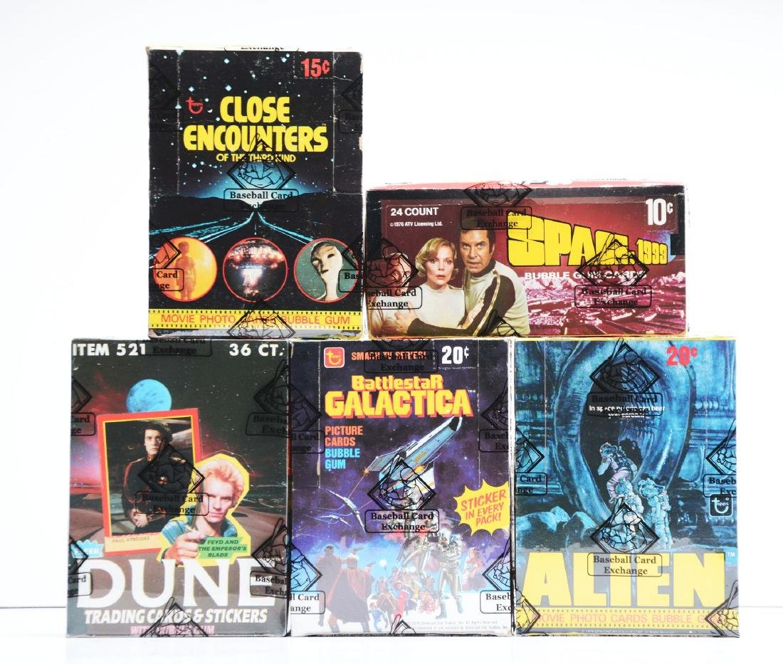1970's & 1980's Sci-Fi Wax Boxes(BBCE).