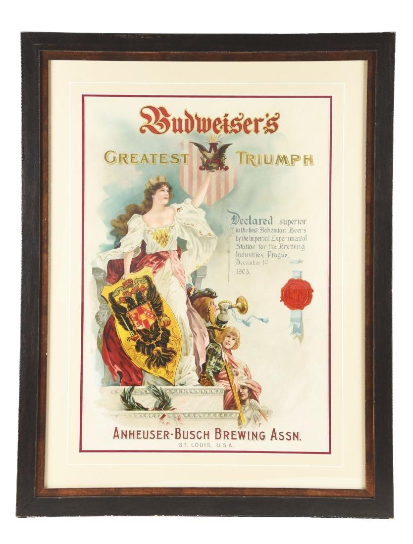 Large Budweiser's Advertising Poster.