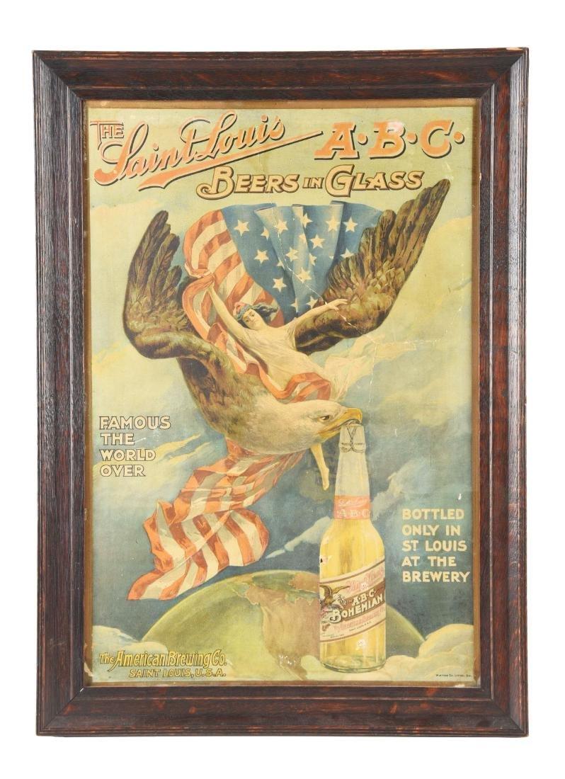 A.B.C. Bohemian Beer Advertising Sign.