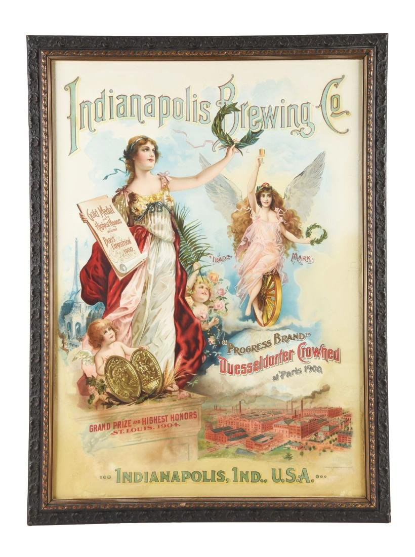 1904 Indianapolis Brewing Company Advertising Poster.