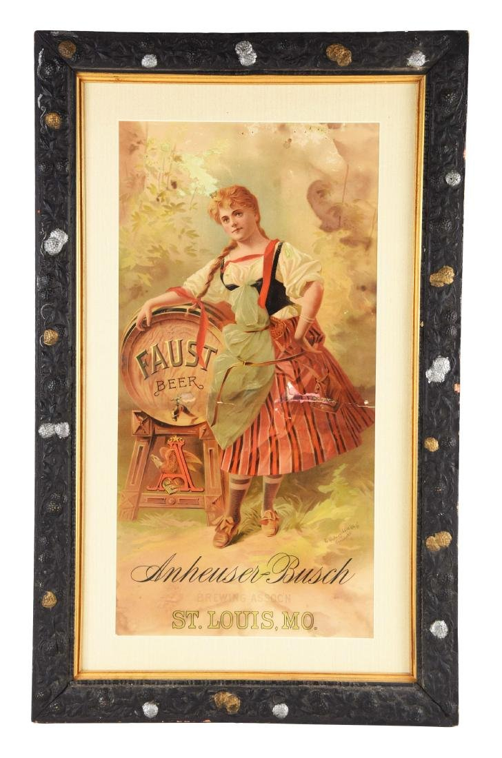 Faust Beer by Anheuser Busch Advertising Poster.