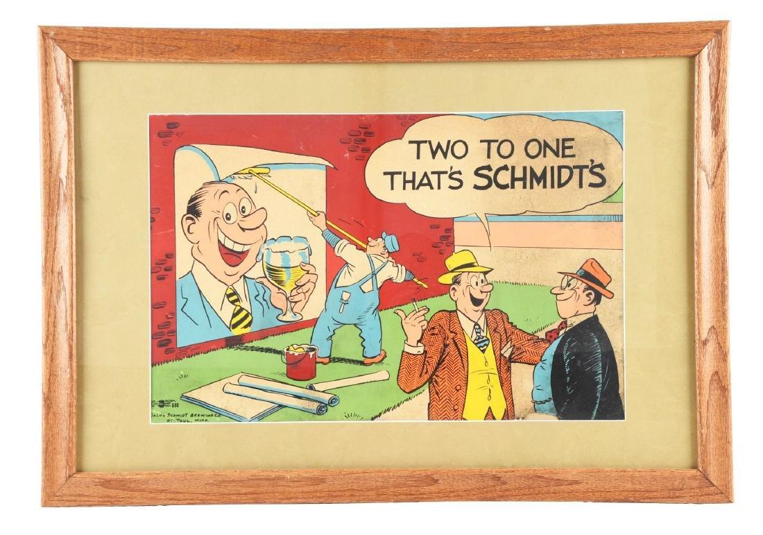 Schmidt's Beer Advertising Sign.