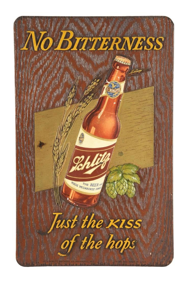 Schlitz Beer Composition Advertising Sign.