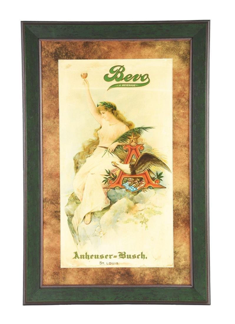 Bevo Beverage by Anheuser-Busch Cardboard Advertising