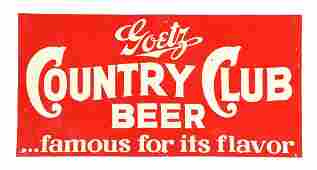 Goetz Country Club Beer Tin Sign