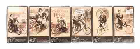 Lot of 6 1897 New Brunswick Tires Trade Cards