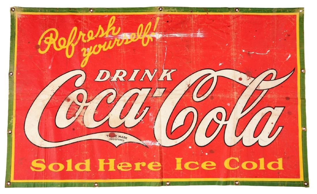 Vintage Refresh Yourself Coca - Cola Advertising