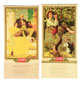Lot Of 2 1932  1934 CocaCola Advertising Calendars
