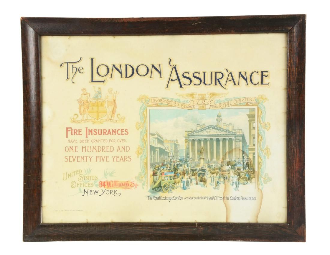 The London Assurance Paper Advertising Sign.
