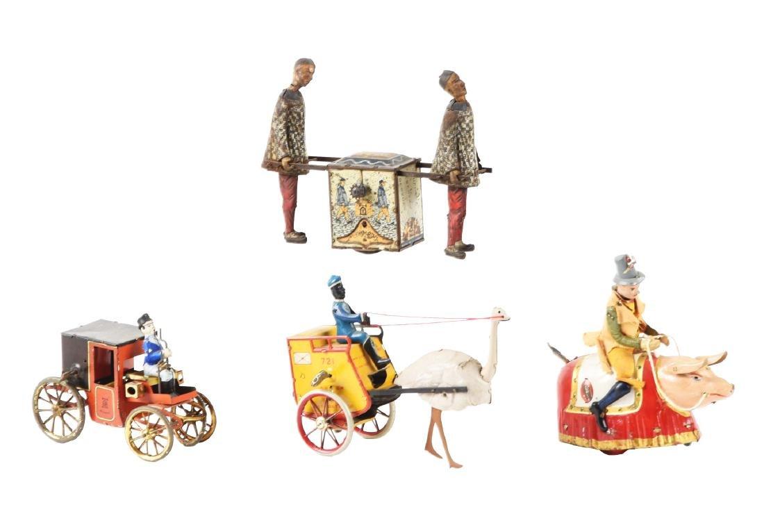 Lot of 4: German Lehmann Tin Litho Toys.