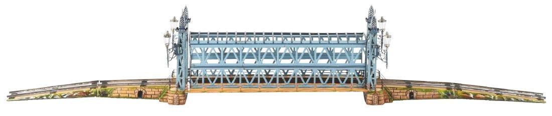 German Marklin Hand Painted Gauge 2 Girder Bridge.