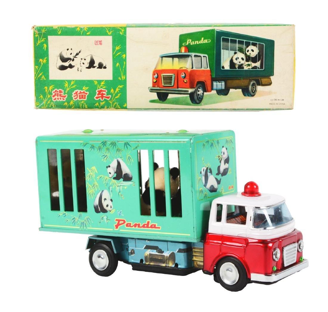 Chinese Tin Litho Battery Operated Panda Truck.