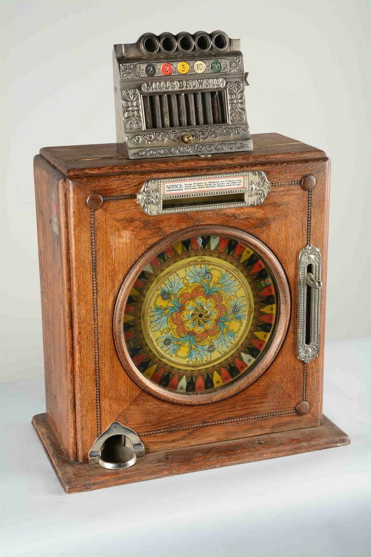 **5¢ Mills Brownie Counter Wheel Slot Machine.