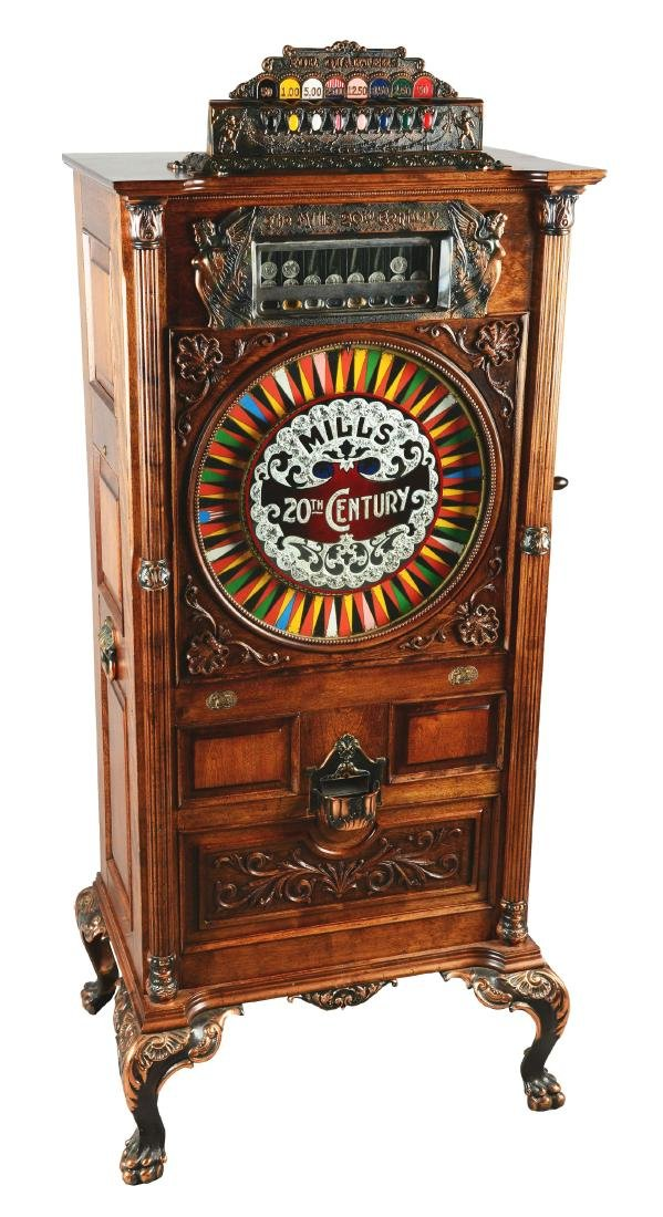 **25¢ Mills 20th Century Upright Slot Machine.