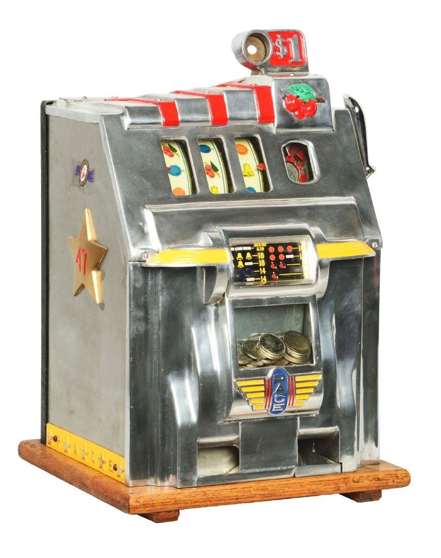 **$1 Pace De Luxe Cherry Bell Slot Machine.