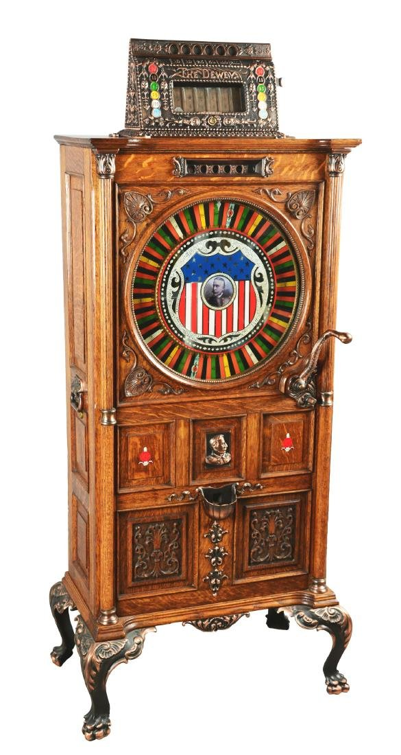 **5¢ Mills Dewey Upright Slot Machine.