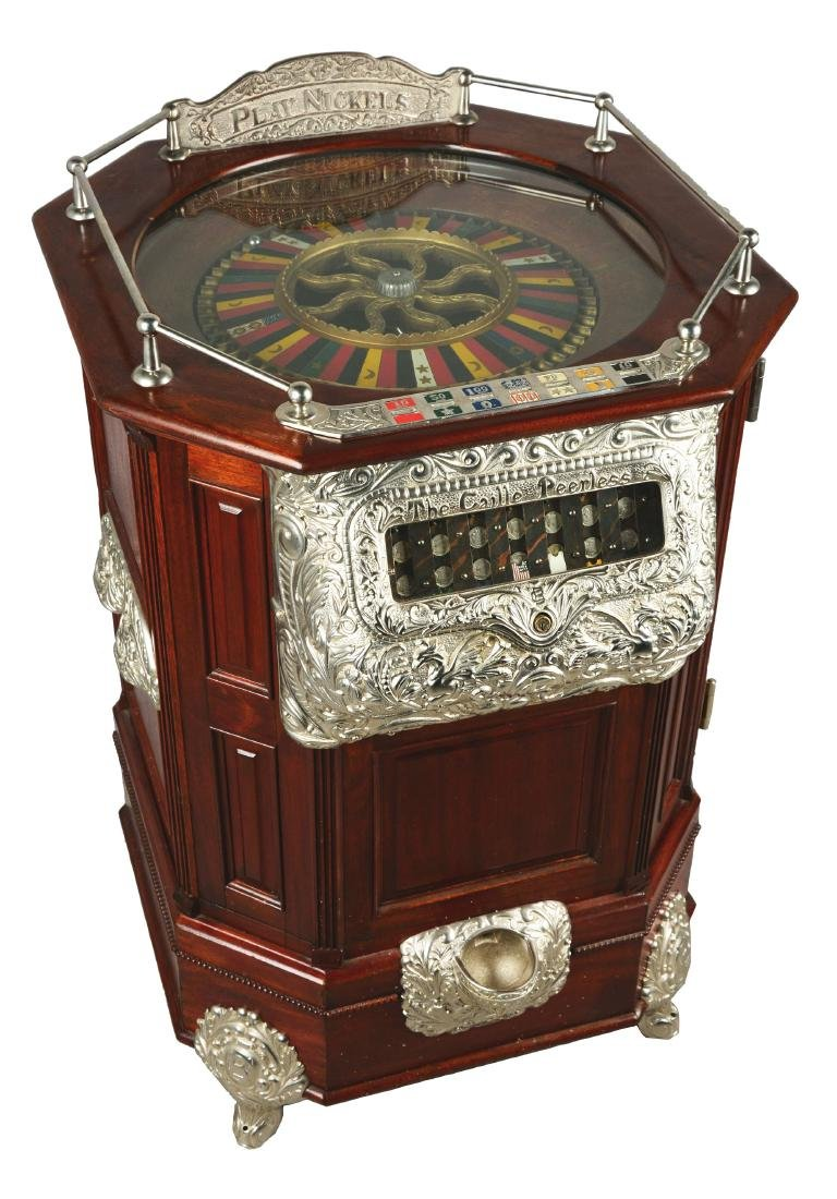 **5¢ Caille Peerless Roulette Floor Model Slot Machine.