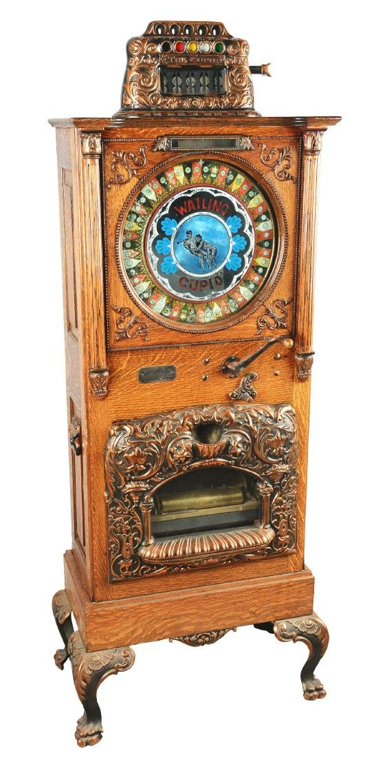 **5¢ Watling Cupid Upright Musical Slot Machine.