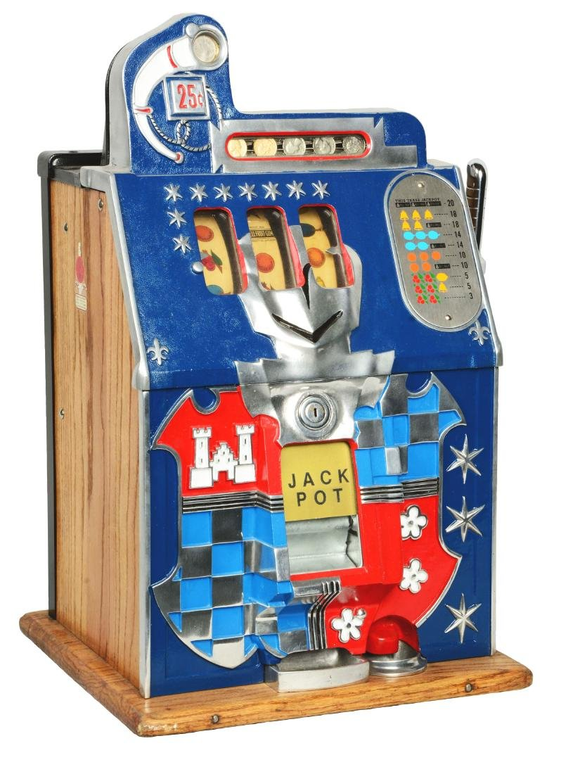 **25¢ Mills Castle Front Slot Machine.