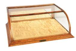 Fairbanks  Co Oak And Glass Display Cabinet