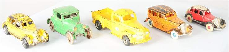Lot Of 5: Cast Iron Car And Truck Toys.